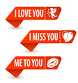 Collect Valentines Day Signs vector image