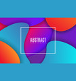 colorful gradient cover design futuristic vector image