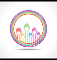 Colorful hand background vector image vector image