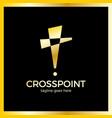 cross point logotype church pin logotype vector image