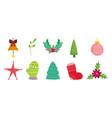 decorative ornament celebration merry christmas vector image vector image