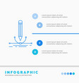 design pen graphic draw infographics template vector image vector image