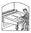 draw two dimensional medium vintage engraving vector image vector image