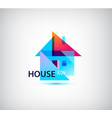 faceted geometric house abstract building vector image vector image