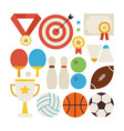 Flat Style Collection of Sport Recreation and vector image vector image