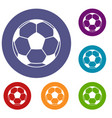 football or soccer ball icons set vector image vector image