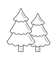forest line icon vector image vector image