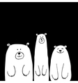 Funny white bears sketch for your design vector image vector image