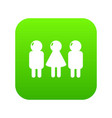girl boy icon green vector image