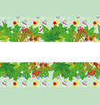 green leaves cartoon background for text vector image