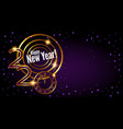greeting banner golden text 2020 happy new year vector image