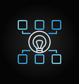 hierarchy with bulb colored line icon start-up vector image