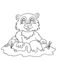High quality chipmunk drwan in outline for vector image vector image