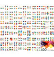Huge mega collection of web banner design vector image