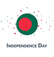 independence day of bangladesh patriotic banner vector image