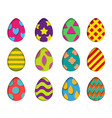isolated eggs set in paper cut style for vector image vector image