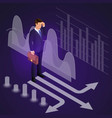 isometric male businessman standing at the vector image vector image