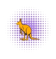 Kangaroo icon in comics style vector image vector image