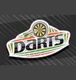 logo for darts sport vector image