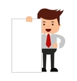 man businessman cartoon character icon vector image