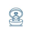 marriage ceremony line icon concept marriage vector image vector image