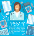 medical therapy or meicine poster vector image vector image
