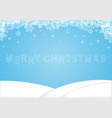 merry christmas word snowflake background vector image vector image
