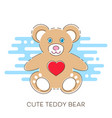 modern cute teddy bear vector image