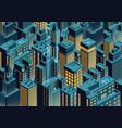 night new york isometric perspective cartoon vector image vector image