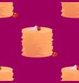 pancake seamless pattern vector image
