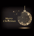 polygonal christmas tree ball vector image
