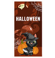 poster in style of holiday all evil halloween a vector image vector image