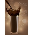 Pouring cocoa chocolate and milk vector image vector image