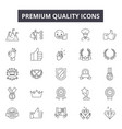 premium quality line icons signs set vector image