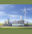 renewable energy sources vector image vector image