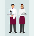 restaurant team concept couple of waiter and vector image