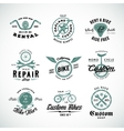 Retro Bicycle Labels or Logo Templates Set vector image vector image