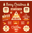 retro style christmas design elements set vector image vector image