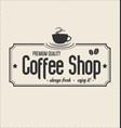 retro vintage coffee design background 0007 vector image vector image