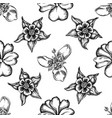seamless pattern with black and white impatiens vector image vector image