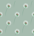 seamless pattern with dandelion stylish vector image vector image