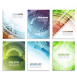 Set of abstract business flyer template folder vector image vector image