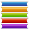 set of colorful buttons banners or plaques vector image