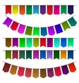 Set of multicolored flags for design vector image