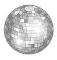 Silver mirror ball or discoball for party vector image