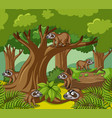 slothes live in forest vector image