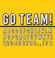 sport letters font college sports team typography vector image