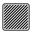 square emblem striped in monochrome silhouette vector image