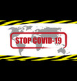 stop coronavirus banner with prohibition sign vector image vector image