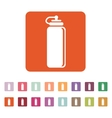 The sports water bottle icon Bottle symbol Flat vector image